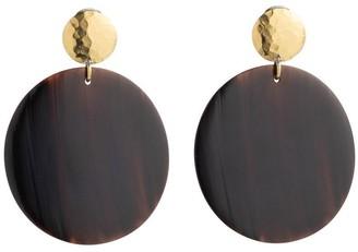 Natori Buffalo Nail Circular Earrings