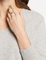 Marks and Spencer Platinum Plated Diamanté Baguette Ring