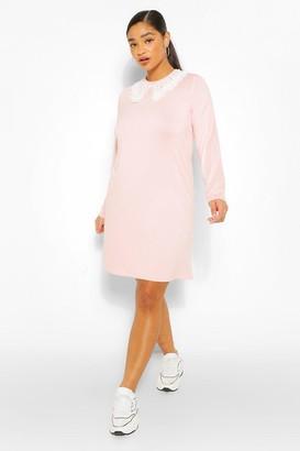 boohoo Plus Jersey Collar T-Shirt Dress