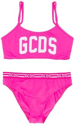 Gcds Kids Logo Print Bikini Set