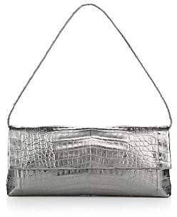 Nancy Gonzalez Women's Gotham Metallic Crocodile Clutch