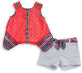 Little Lass Baby Girls Baby Asymmetrical Tank and Short Set