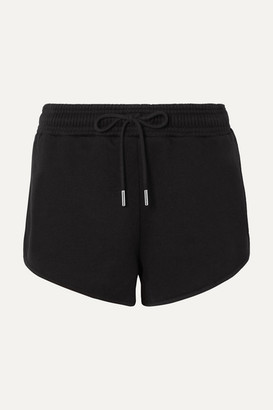 Ninety Percent Net Sustain Farrah Organic Cotton-jersey Shorts - Black