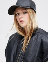 Asos Leather Look Baseball Cap