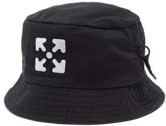 Off-White Off White Logo-embroidered Cotton-twill Bucket Hat - Mens - Black