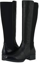 Johnston & Murphy Jade (Black Calfskin/Knit) Women's Boots