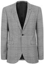 Topman Black and White Twisted Check Skinny Fit Suit Jacket