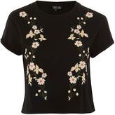 Topshop Floral Embroidery T-Shirt
