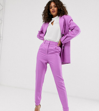 Asos DESIGN Tall dream tapered suit trousers in lilac