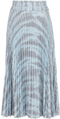 Proenza Schouler White Label Pleated Tie-Dye Skirt