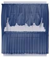 Bed Bath & Beyond Emelia 40-Inch Fan Insert Sheer Window Curtain in Navy
