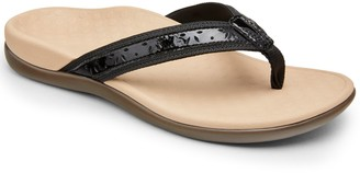 Vionic Leather Thong Sandals - Casandra