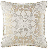 Waterford Olivette Medallion & Herringbone Square Pillow