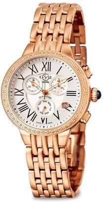 Gv2 Astor Stainless Steel Diamond Chronograph Watch