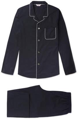 Derek Rose Plaza 21 Piped Cotton-Poplin Pyjama Set