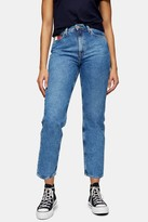 Tommy Hilfiger Womens Blue Harper Straight Jeans By Tommy Jeans - Mid Stone