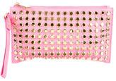 Michael Kors Studded Embellished Leather Wristlet