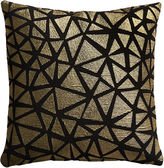 "CB2 Soiree Black 16"" Pillow With Feather Insert"