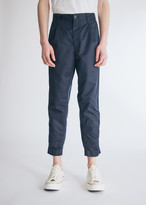 Beams Men's 1Pleats 80/3 Twil Cotton in Navy Pants, Size Small | 100% Cotton