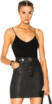 Alexander Wang V Neck Camisole Top in Black.
