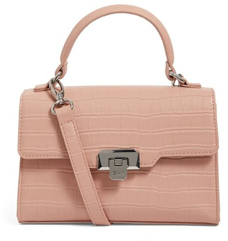 Harrods Mini Brent Croc-Embossed Bag