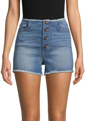 Siwy Abella Skinny Button Jean Shorts