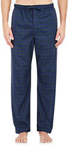 Barneys New York Men's Plaid Pajama Pants-BLACK