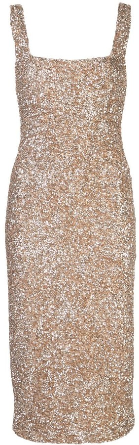 Alice + Olivia Fitted Sequin Dress
