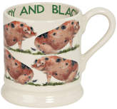 Emma Bridgewater Sandy & Black Pig Half Pint Mug, Multi, 310ml