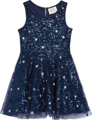Hannah Banana Sequin & Star Fit & Flare Dress