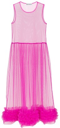 Molly Goddard Alison sheer tulle midi dress
