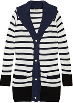 Truman striped cashmere-blend cardigan