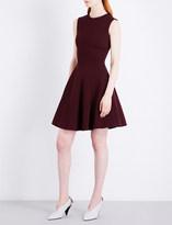 Victoria Beckham Panelled Flare woven mini dress