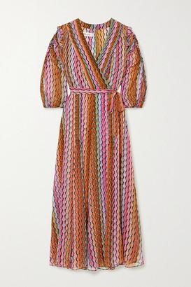 Diane von Furstenberg Bree Printed Silk-chiffon Wrap Dress - Pink