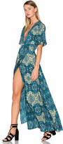 House Of Harlow x REVOLVE Blaire Wrap Maxi in Green. - size L (also in )