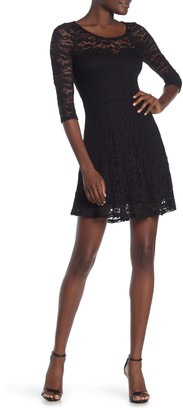 Material Girl Long Sleeve Lace Dress