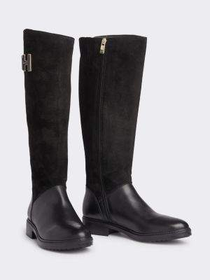 Tommy Hilfiger Essential Long Suede Boots