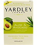 Yardley London Naturally Moisturizing Bath Bar, Aloe and Avocado, 4.25 oz.