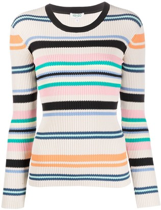 Kenzo Striped Ribbed Knit Jumper
