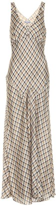 Paco Rabanne Checked satin dress
