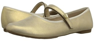 Elephantito Princess Flat (Toddler/Little Kid/Big Kid) (Metallic Suede Gold) Girls Shoes