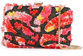 Elie Saab floral applique clutch - women - Leather/Nylon/PVC - One Size