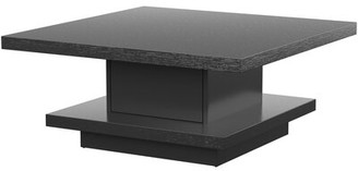 Mercury Row Stallard Pedestal Coffee Table with Storage Color: Black