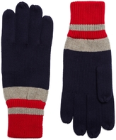 Brooks Brothers Cotton Rugby Stripe Knit Gloves