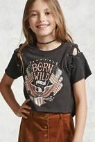 Forever 21 FOREVER 21+ Girls Born Wild Tee (Kids)