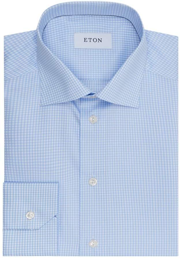 Eton Slim Fit Micro Check Shirt