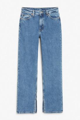 Monki Side slit jeans