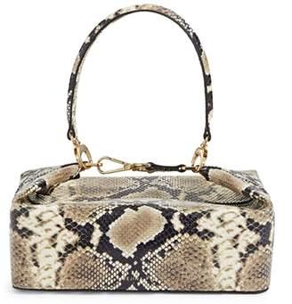 REJINA PYO Snakeskin-Print Leather Top Handle Bag