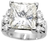 18K White Gold 10.13 Ct Radiant Rectangular Brilliant Cut Diamond Engagement Ring