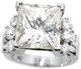 18K White Gold 10.13 Ct Radiant Rectangular Brilliant Cut Diamond Engagement Ring